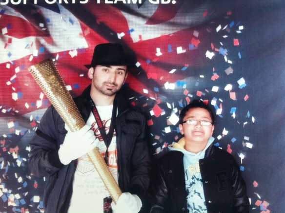 Me & Adam with the Olympic Torch