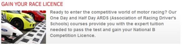 Racing License