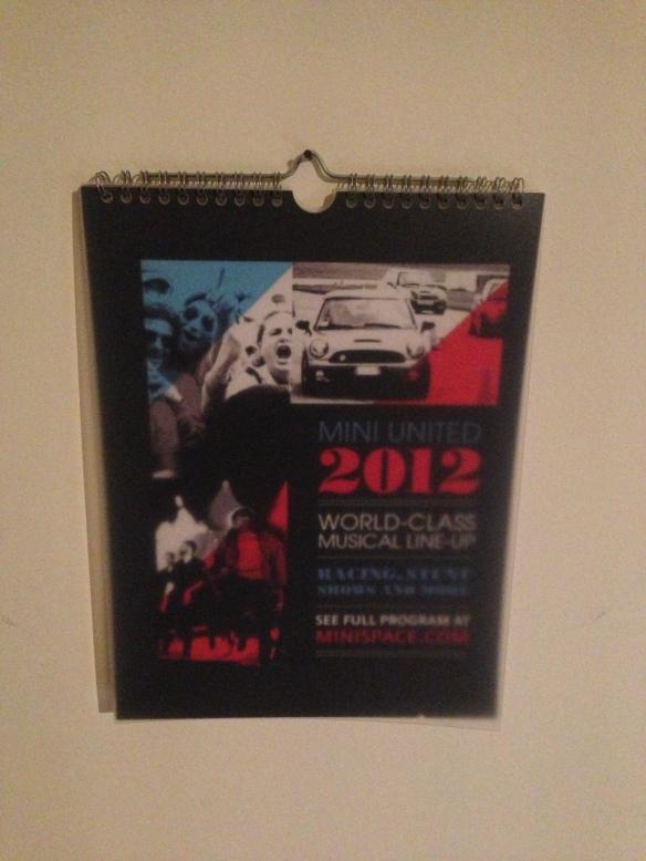 MINI UNITED Calendar