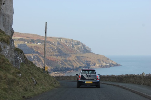 Cliff and ocean road