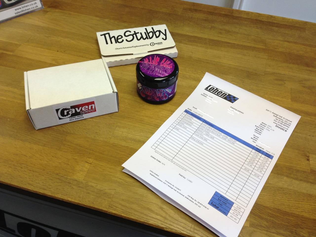 Stubby Aerial & Dodo Juic wax