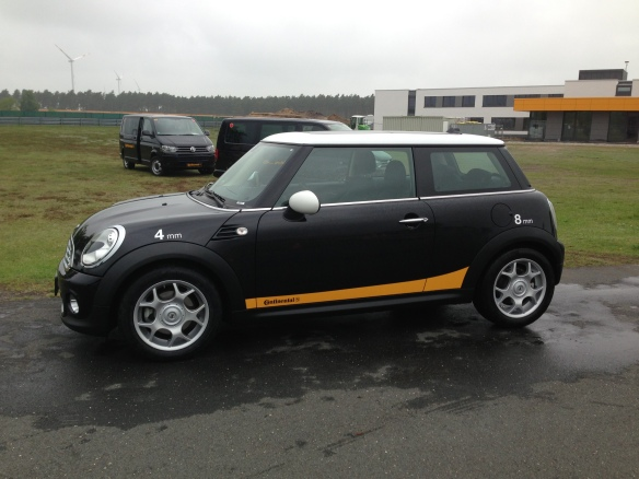 MINI fitted with Continental Tyres