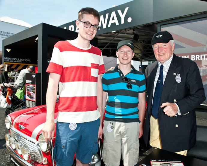 Paddy Hopkirk with Ian & Mark