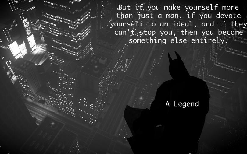 Batman Legend quote