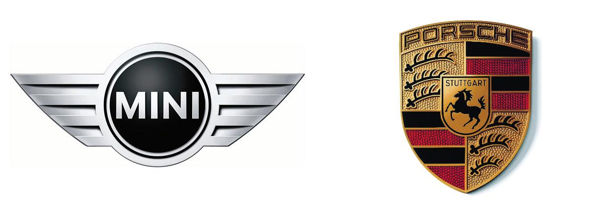 MINI & Porsche Logos