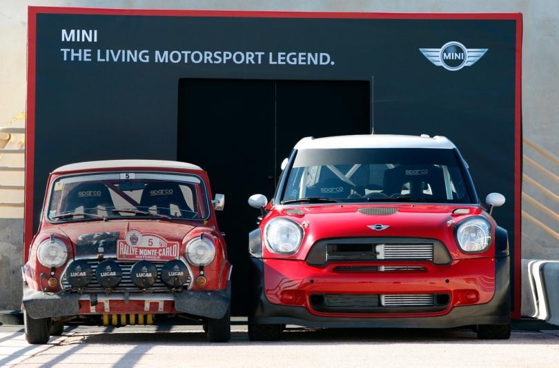 MINI WRC meets 1968 Cooper S Monte Carlo 02/02/2011