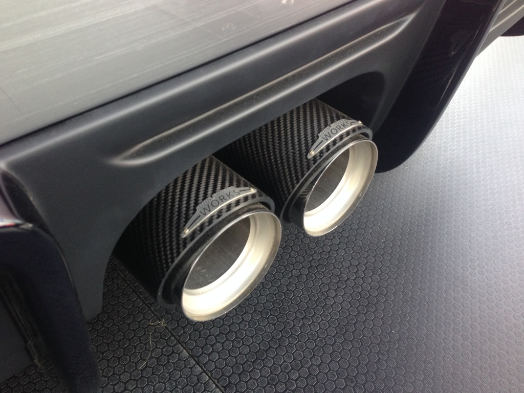 JCW carbon exhaust tips
