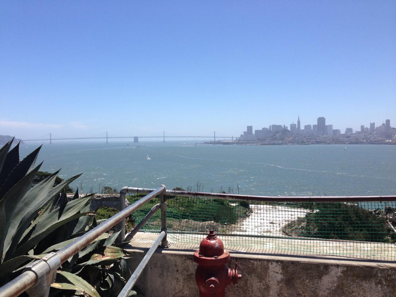 alcatraz sea view