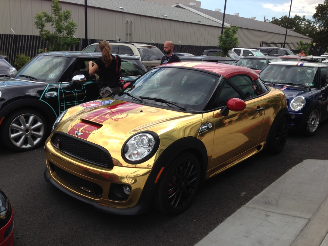 gold wrapped jcw coupe