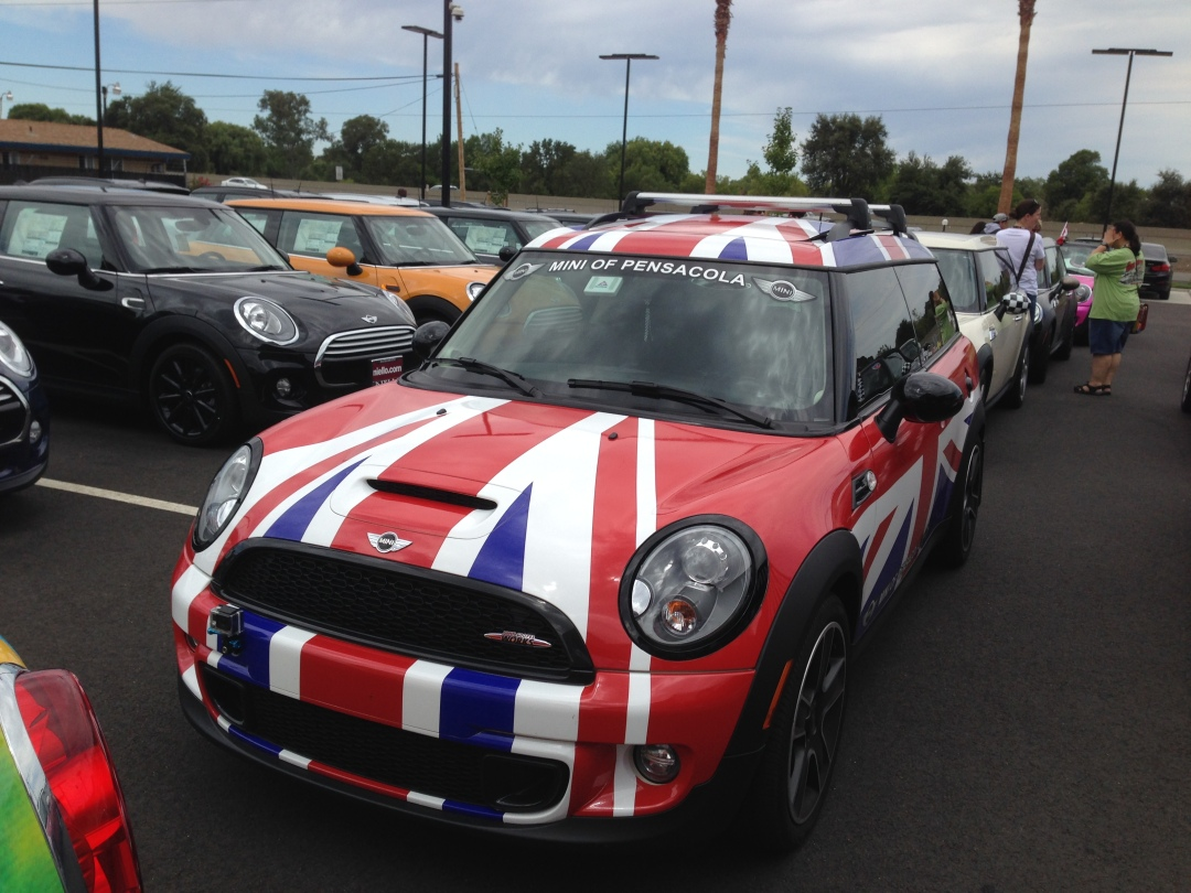 union jack wrapped mini cooper s