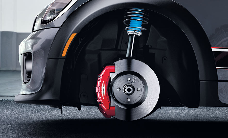 An adjustable coil over suspension, with 6-piston Brembo® front