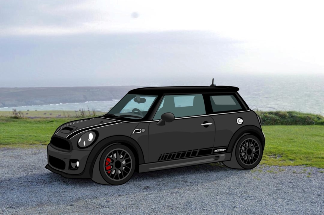 MINI JCW Cartoon